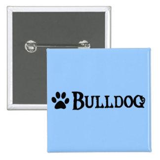 Bulldog (pirate style w/ pawprint) pinback buttons