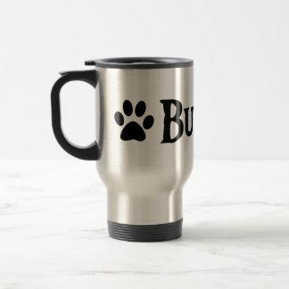 Bulldog (pirate style w/ pawprint) coffee mug