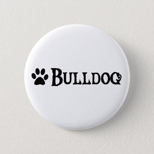 Bulldog (pirate style w/ pawprint) pinback button