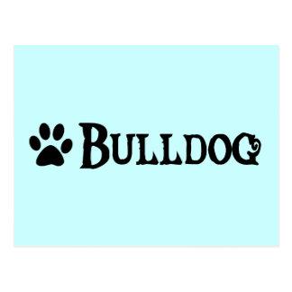 Bulldog (pirate style w/ pawprint) postcard