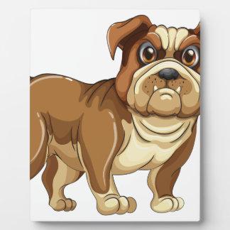 Bulldog Photo Plaque