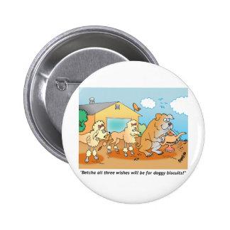 Bulldog - Poodle Cartoon Gifts Pin