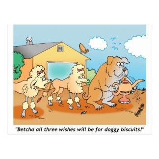 Bulldog - Poodle Cartoon Gifts Postcard