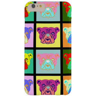 Bulldog Pop Art Barely There iPhone 6 Plus Case