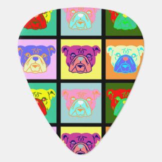 Bulldog Pop Art Guitar Pick