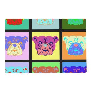 Bulldog Pop Art Laminated Placemat