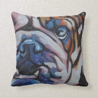 Bulldog Pop Art Pillow