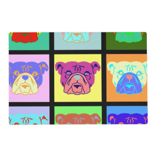 Bulldog Pop Art Placemat