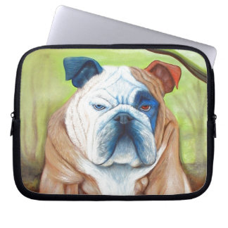 Bulldog Portrait Art Laptop Sleeves