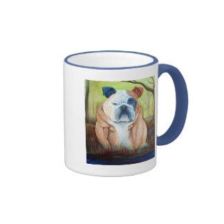 Bulldog Portrait Art Mug