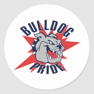 Bulldog Pride Classic Round Sticker