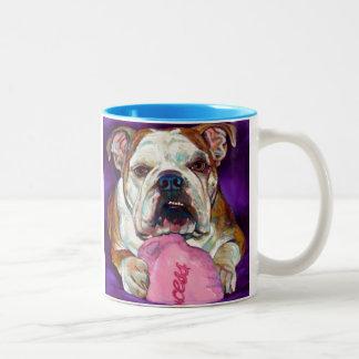 Bulldog Princess Two-Tone Coffee Mug