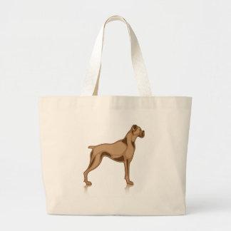 Bulldog Profile Large Tote Bag
