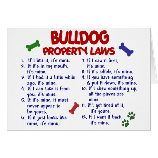 Bulldog Property Laws 2 Card
