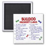 Bulldog Property Laws 2 Fridge Magnets