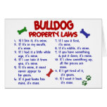 Bulldog Property Laws 2 Greeting Cards