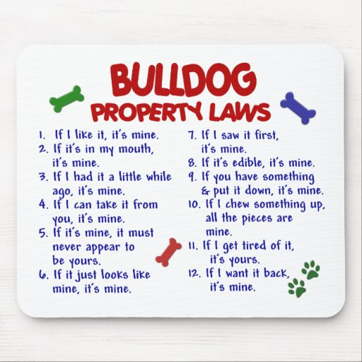 Bulldog Property Laws 2 Mouse Mats