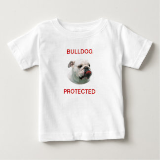 Bulldog protected black custom infant t-shirt gift