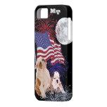 Bulldog Puppies American Flag Full Moon Fireworks iPhone 5 Covers