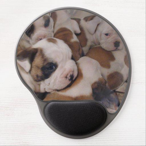 Bulldog Puppies Gel Mouse Pads