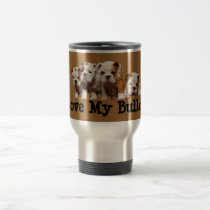 Bulldog Puppies Love Travel Mug