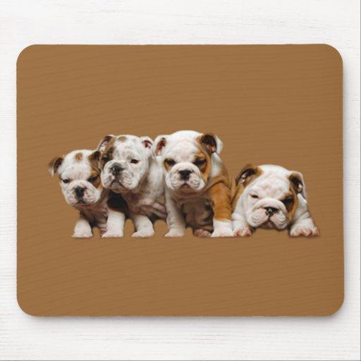 Bulldog Puppies Mousepad