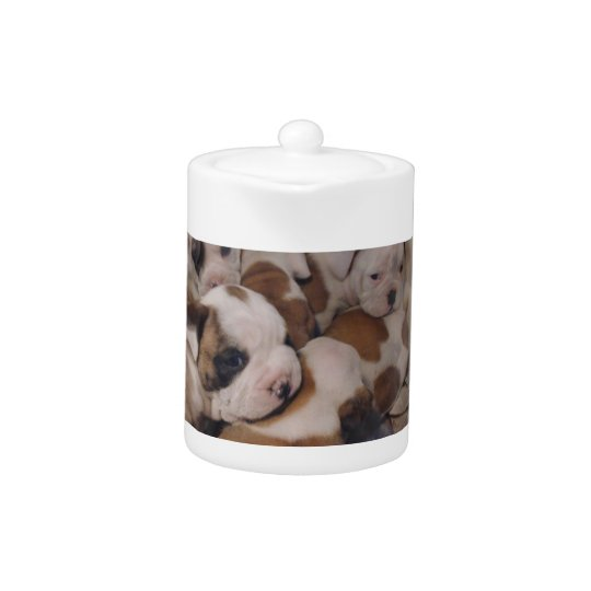Bulldog Puppies Teapot