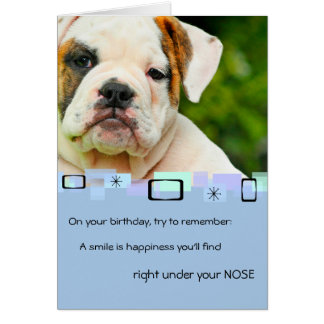 Bulldog Puppy All Occasion Greeting Card