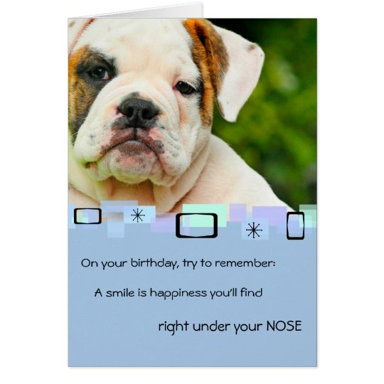 Bulldog Puppy All Occasion Greeting Card