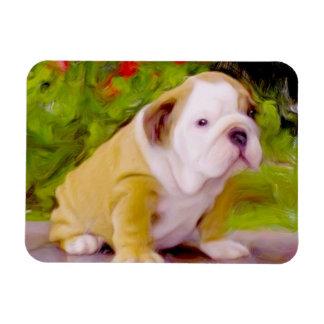 Bulldog puppy art flexible photo magnet