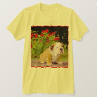 Bulldog puppy art T-shirt