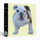 Bulldog puppy binder`