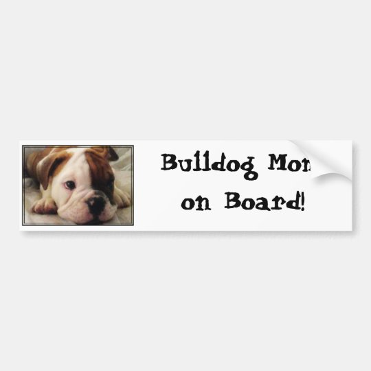 Bulldog puppy bumper sticker