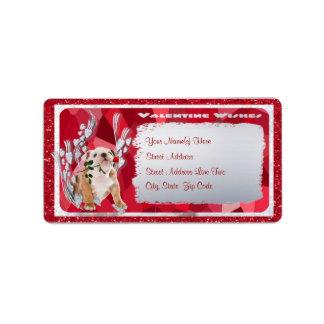 Bulldog Puppy Customizable Return Address Label