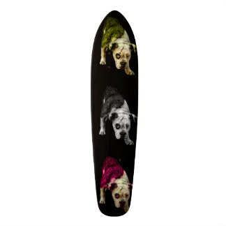bulldog puppy dog pop art 1368-bb skateboard deck