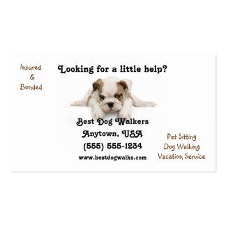 Bulldog Puppy Dog Walker Business Card