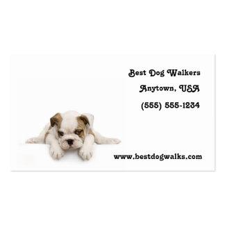 Bulldog Puppy Dog Walker Business Cards