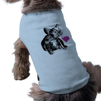 Bulldog Puppy Drawing Heart  Ribbed Tank Top