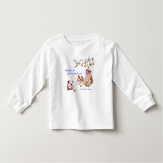 Bulldog Puppy Eggs -Traordinary Easter Wishes Toddler T-shirt