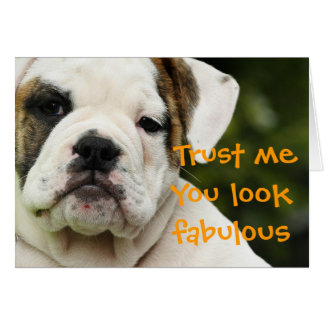 Bulldog puppy funny birthday card