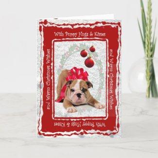 Bulldog Puppy Hugs & Kisses Customizable Inside!