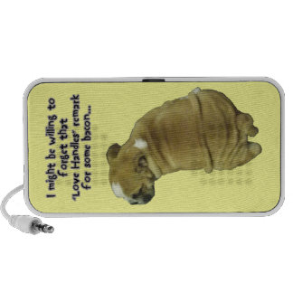 Bulldog Puppy Love Handles and Bacon Speakers