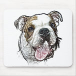 bulldog puppy mouse mats