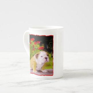 Bulldog puppy tea cup