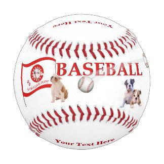 Bulldog Pups - Play Ball Design - Baseball
