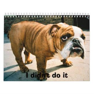 BullDog Pups Calendar