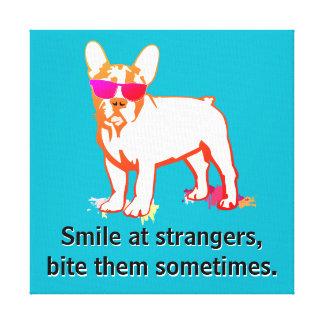 Bulldog Quote Canvas Print