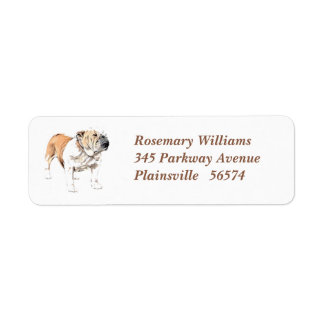 Bulldog Return Address Label