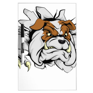 Bulldog ripping through background Dry-Erase boards