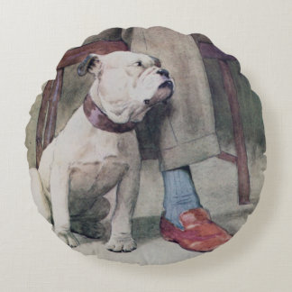 Bulldog Round Pillow